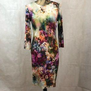 Like New-Karen Kane Floral Knit Dress-Sz M